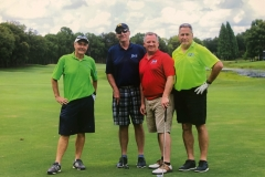 Bob, Mark and Brian (far left is our ringer Simon Randall) at the Indo-US Chamber of Commerce golf outing. 5/10/19